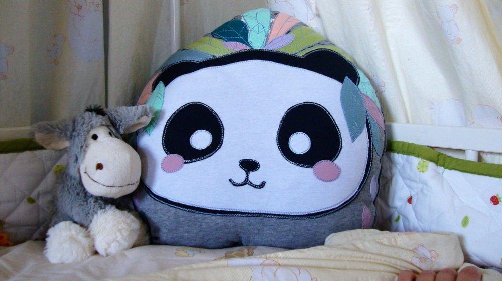 Boho-Panda-Lieblings-Kissen